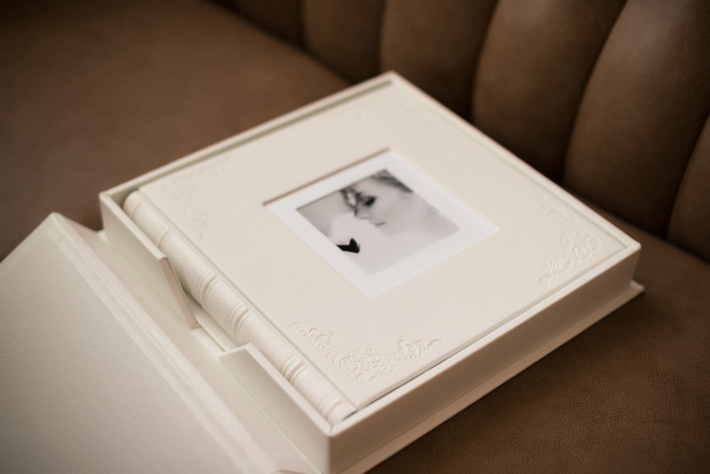 White Leather book
